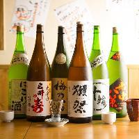 【お酒】 随時仕入れる厳選日本酒に当店名物やかんドリンクも