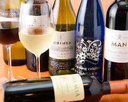 多彩なシャンパン・ワインをご用意しております!