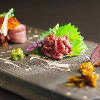 【多彩な一品】 神戸ビーフを様々な味わいでご堪能いただけます