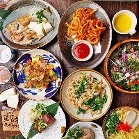 沖縄の定番料理を楽しめる宴会コースを2種ご用意しています!