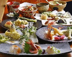 [旬のコース料理] 4,500円のコース料理を心ゆくまで・・・。