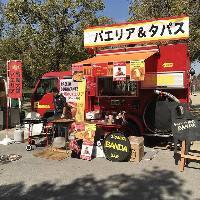 消防車から作ったキッチンカー登場!イベント時に出動。