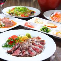 《メニュー色々》 肉も魚も野菜も!多彩なラインナップをご堪能