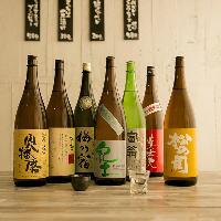 関西の銘柄を中心に厳選した地酒を、700円(税抜)均一で