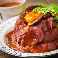 お肉料理を手軽に楽しめるランチも有り♪14:30までご注文OK!