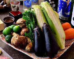 和歌山などから取り寄せる新鮮なお野菜!食材にもこだわります!