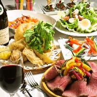 空間や飲み物だけでなく、お料理にも自信があります。