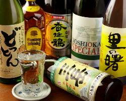 お酒も多種ご用意◎本格焼酎はショットでもボトルキープでも♪