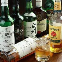 ドリンクもウイスキー・ワイン・焼酎を各種ご用意しております♪