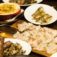ガッツリお肉〜おつまみまで、絶品イタリアンがずらり