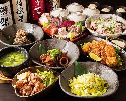 新鮮な海鮮が食べられるコースや鍋のコースもご用意。