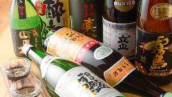 鮮魚に合う地酒も常時15種ご用意。また京都の地酒もございます。