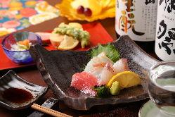 和食を知り尽くした料理人が腕をふるう料理をどうぞ。