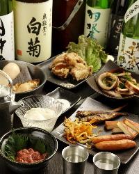 美味しい料理と厳選された日本酒をお楽しみください。