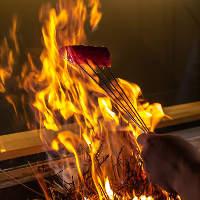 国産の藁で焼き上げるカツオのたたき・近江牛のたたきは絶品!