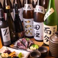 店主厳選。料理に合う日本酒や果実酒も豊富に取り揃えております