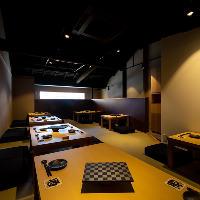 くつろぎ感たっぷりの座敷席は、宴会や会社の歓送迎会に最適