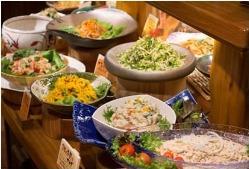 新鮮な野菜で作ったバランスのいい色鮮やかなサラダ!