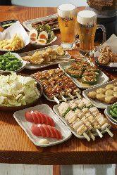 大好評!!トリキ晩餐会☆食べ・飲み放題☆お一人様2980円(税抜)