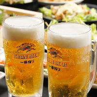 飲み放題はキリン一番搾り生ビールを含む150種以上と豊富!
