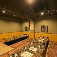 広めでゆったりの完全個室♪ 当日の御予約でも個室にご案内!