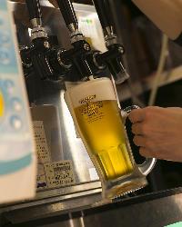 コースの飲み放題は全て『生ビール』をお楽しみいただけます♪