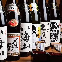 日本酒は25種ほどご用意。原価で楽しめるお得なサービスも有り!