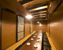 ご宴会に最適な個室は20名までご利用可能