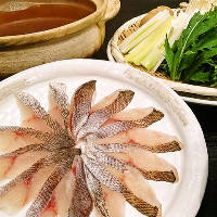 高級魚「金目鯛」を余すことなく食す「金目鯛づくしコース」