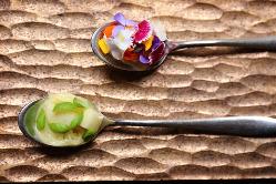 花が香り立つような京野菜イタリアンのコースをご提供。