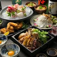 限定!国産鴨・地鶏豪華すき焼き鍋コースは新鮮魚刺身盛付き
