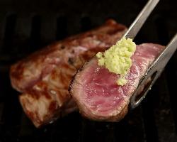 上質なお肉は、ワサビでいただくとよりおいしく!