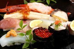 びっくりのでかネタは毎日新鮮お魚そろってます!