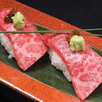 神戸牛炙り寿司など一品料理もご用意
