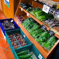 【新鮮第一☆】 直売所で新鮮な野菜を購入することもできます♪