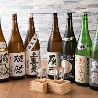 【日本酒】 店長が厳選して仕入れる日本酒・焼酎は季節酒も