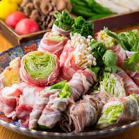 名物肉巻き野菜は必食♪豚肉の甘味と野菜の旨味が美味!