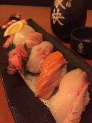 新鮮なネタを使ったお寿司も大人気!