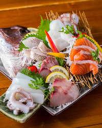 お造りも鮮度バツグン!その日仕入れたお魚のみを使用。