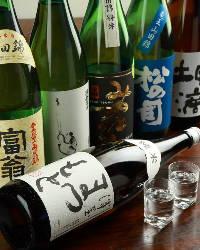 京都のうまい地酒をご用意しております。
