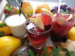 生果実や健康酢カクテルから地酒やスムージーまで様々な飲み物