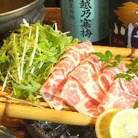 当店一番人気の「桜肉特上霜降りハリハリ鍋」を召し上がれ♪