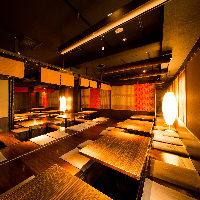 雰囲気抜群の夜景個室空間…団体宴会は最大100名様まで!