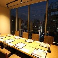 梅田パルビル最上階の景色を完全個室で!