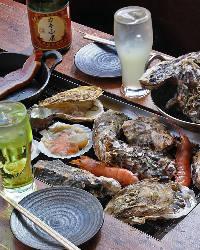 BBQ席では浜焼&牡蠣の食べ放題をお楽しみいただけます!!