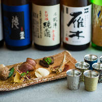 厳選した日本酒を豊富に取り揃えています。