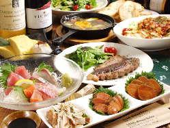 宴会にはコース料理もOK。お気軽にご相談ください。