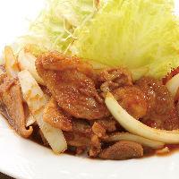 ジューシーな豚肉×たっぷりの玉ねぎで仕上げる生姜焼き定食!