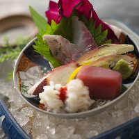 【一品料理】 今日どんな魚に出合えるかは、ご来店後のお楽しみ