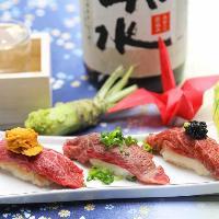牛寿司、ステーキ、ローストビーフetc. 多彩な味をご提供します
